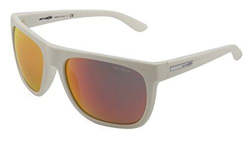 Arnette Sunglasses - Fire Drill / Frame: White Lens: Green with Red Mirror-AN414322506Q (Sunglasses Green Arnette)