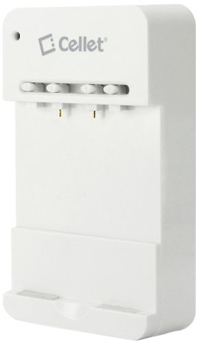 Cellet Multipurpose Universal Battery Charger for Motorola, HTC, Samsung and Other Smartphones  - Retail Packaging - White
