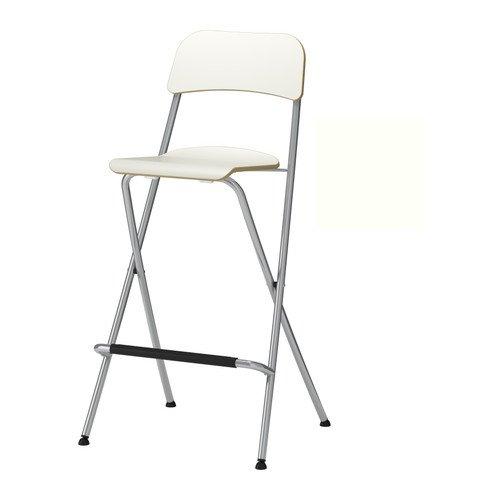 Ikea Franklin - Taburete con Respaldo Plegable, Blanco ...
