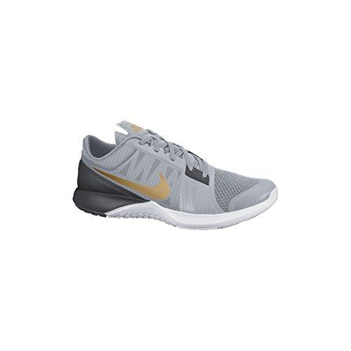 NikeFS LITE TRAINER 3 - Zapatillas Hombre Grey/Anthracite/Platinum/Metallic Gold