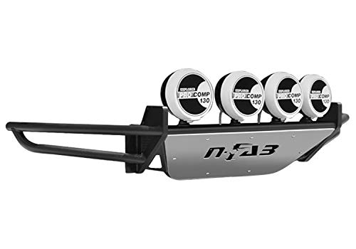 N-Fab D024RSP RSP Replacement Front Bumper Multi-Mount System w/Skid Plate Holds Up To Four 9 in. Lights Gloss Black RSP Replacement Front Bumper Multi-Mount System (N Fab Bumper Dodge Ram)