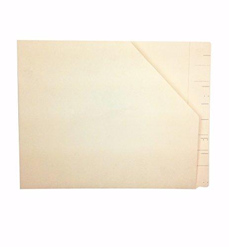 (Medical Arts Press Match Watershed Cutless End Tab Diagonal Cut File Pockets- Manila (50/Box) (23939R))