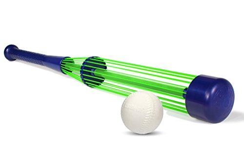 Tucker Toys Crush It Adjustable High Powered Baseball Bat with High Performance Foam Ball