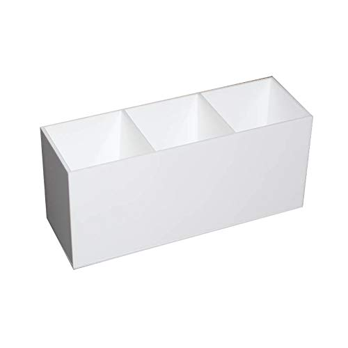 White Headphones Wh Portable (yanbirdfx 3 Slot Cosmetics Brush Storage Case Acrylic Makeup Tools Holder Organizer Box White)