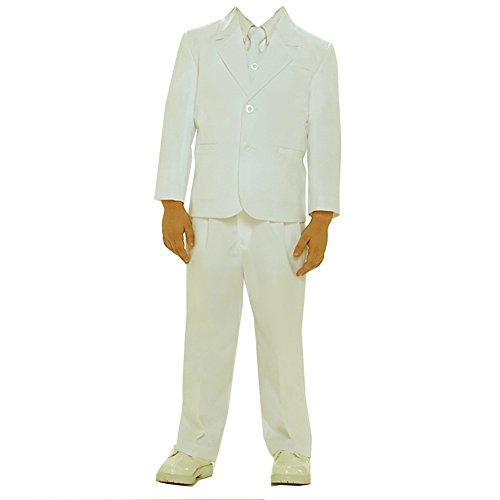 Tip Top Kids Big Boys Ivory Single Breasted Jacket Vest Shirt Tie Pants 5 Pc Suit 14 -