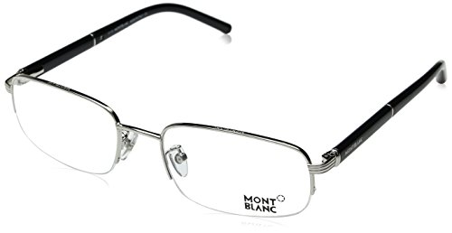 Mont Blanc Men's Designer Optical Sunglasses, Shiny Palladium, - Mont Blanc Designer