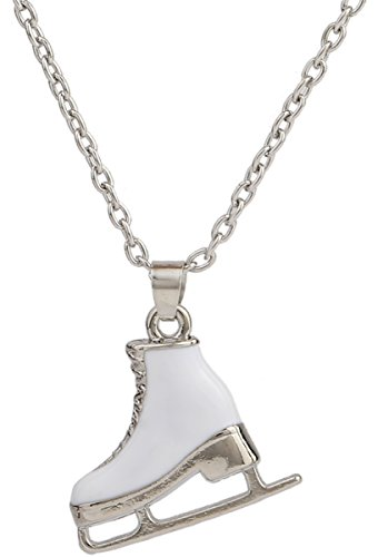 3D Adorable Ice Skate Charm Double-sided Pendant Necklace For Girls women]()