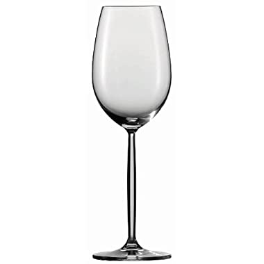 Schott Zwiesel Tritan Crystal Glass Diva Stemware Collection Wine Goblet/Sweeter White Wine Glass, 10.1-Ounce, Set of 6