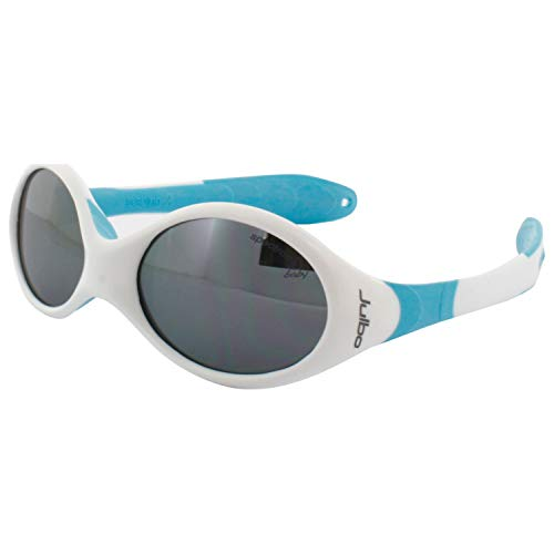 Julbo Infant Looping I Sunglasses, Spectron 4 Baby, White/Blue Frame with Cord, 0-18 Months