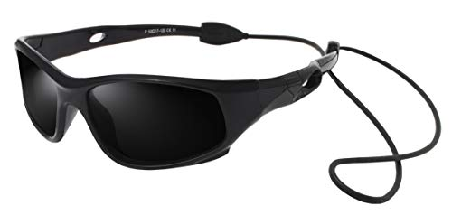 VATTER TR90 Unbreakable Polarized Sport Sunglasses For Kids Boys Girls Youth 816blackblack -