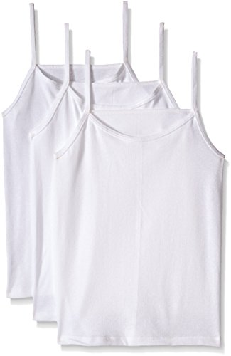 Fruit of the Loom Big Girls' Cami, White, Medium(Pack of 3) (Undershirt Girls)
