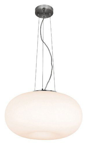 Access Lighting 50944-BS/OPL Nickel Aircraft Large Pendant Light (Aircraft Cable Supported)