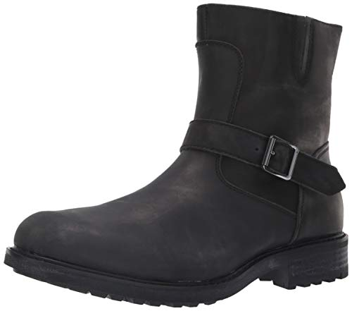 (Steve Madden Men's SELF Made BUCKK Ankle Boot, Black Leather, 11.5 M US)