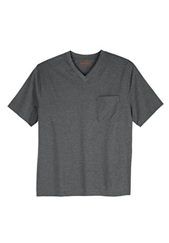 Kingsize Heavyweight Cotton V Neck Pocket
