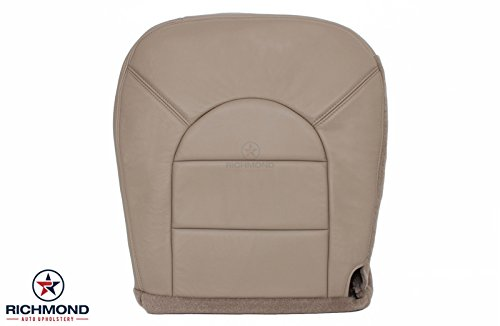 2000 Ford F-250 Lariat Crew-Cab Driver Side Bottom Replacement Leather Seat Cover, Tan