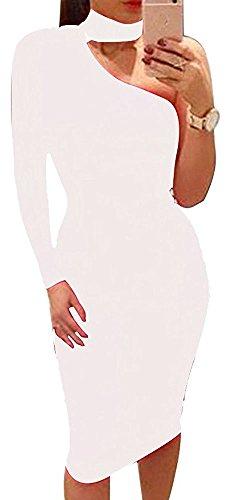 Sweetnight Shoulder Sleeve Stretch Dresses