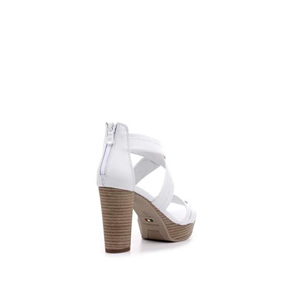 Nero Giardini P908081D Sandalo Tacco Argento/Bianco – Primavera Estate