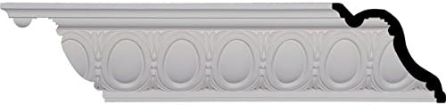 "Ekena Millwork 5 – 1 / 8 "" H x 6 "" P x 7 – 7 / 8 "" F x 96 – 1 / 8 "" L Egg and Dart Crown Molding with 3 – 3 / 8 ""繰り返し Single MLD05X06X07EG 1"