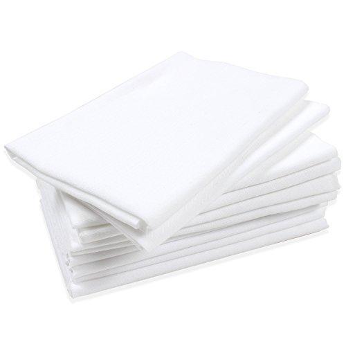 KOMESICHI 10 Pcs Plain White Tenugui Japanese Hand Towel Bun