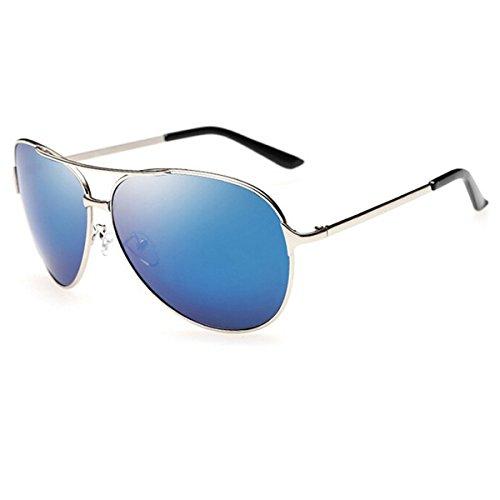 Hombres Frame Especial de Sapo Pesca Blue KOMNY Moda 8009 Sol de Gun Montar Ice Sol Gafas Gris Gafas Ash de Conduce Ojos polarizadas Marco Gafas Negro wOBYIq