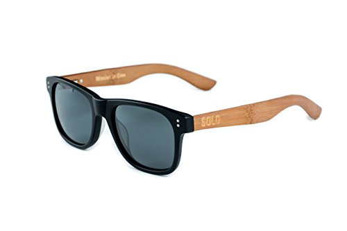 SOLO Eyewear - Handcrafted and Repurposed Bamboo - Matte Black - Dominican Sunglasses