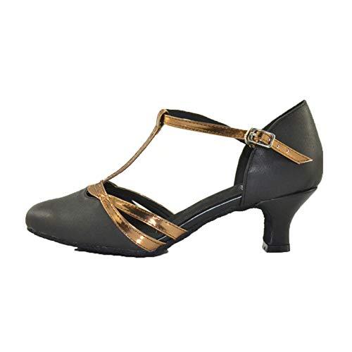Black5 De La Plaza ll Tipo Blando Modernos 5cm Baile Fondo Medio Latino Tacon Tacón Mujer T Zapatos Amistad Acogedor Solos Whl Alto yRX4fqq