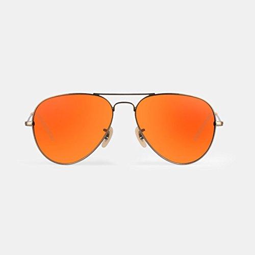 Lunettes Lunettes de soleil unisexe anti-UV Polarized Light Clear PC ( couleur : Orange ) J7Hmi