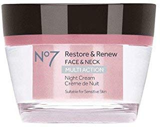 No7 Restore & Renew Multi Action Night Cream - 1.69oz Night Cream (Boots No 7 Face Cream For Mature Skin)