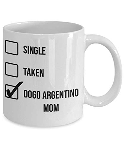 Valentine's Day Dogo Argentino Mom Mug - White 11oz 15oz Ceramic Tea Coffee Cup - Perfect For Travel And Gifts 2