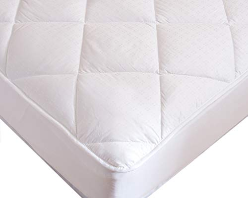 Luxurious Fitted Down Alternative Mattress Pad 100% Cotton C