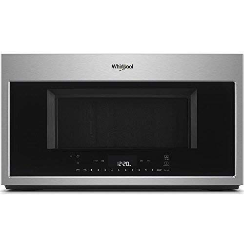 - Whirlpool 30 in W 1.9 cu. ft. Smart Over the Range Convection Microwave in Fingerprint Resistant Stainless Steel