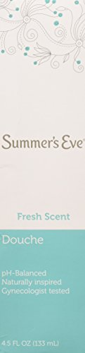 - (Pack of 3 Bottles) Summer's Eve Fresh Scent Douche Vinegar & Water, Feminine Wash, 4.5oz Bottles. PH Balanced, Naturally Inspired, Gynecologist Tested (Pack of 3 Bottles, 4.5oz Each Bottle)