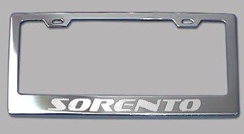 KIA CARENS SEDONA SORENTO x2 ABS chrome CAR number plate surrounds holder frames