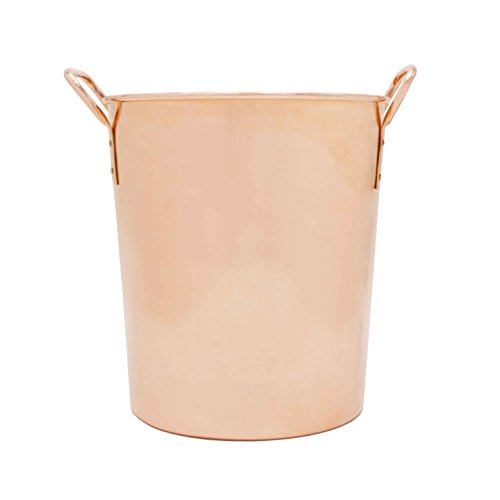 Sinkology Sinkology Extra Thick Classic Ice Bucket Pure Copper Chiller with Handles Uncoated and Unlined, Copper