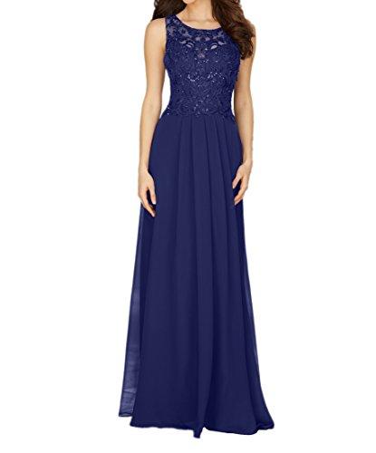 Abendkleider Brautmutterkleider Braut Royal La A Dunkel Ballkleider Attraktive mia Chiffon Rock Weinrot Linie Blau Promkleider Lang pUwX8q