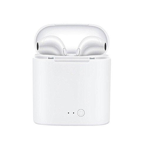 LayOPO I7S TWS - Auriculares inalámbricos para Apple Airpods iPhone X 8 8plus 7 7plus 6S Samsung Galaxy S7 S8 ect, Blanco, 1