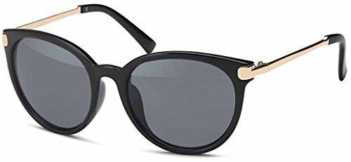 en Or Unisexe lunettes métal couleur avec pour Vintage fumée en soleil de hommes Années tendance Femmes 60er Retro finition bronze amp; trendy Montures Lunettes Style qwqtgXf