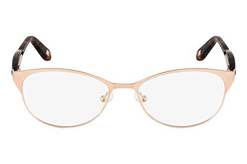Óculos De Grau Marchon Nyc M-Gracie 710/52 Dourado Acetinado/marrom