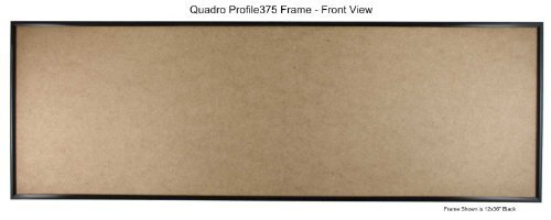Quadro Frames 8x24 inch Picture Frame, Black, Style P375 - 3/8 inch Wide Molding, Box of 2 by Quadro Frames