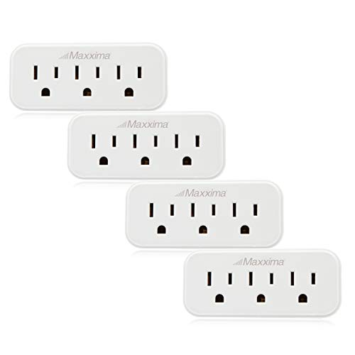 - Maxxima 3 Grounded Multi Outlet Adaptor Wall Plug, Turn one outlet into 3 (Pack of 4)