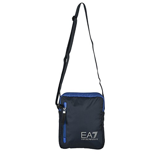 Emporio Armani EA7 Big Logo Unisex Dark Blue Cross Body Messenger Shoulder (Armani Shoulder Bag)