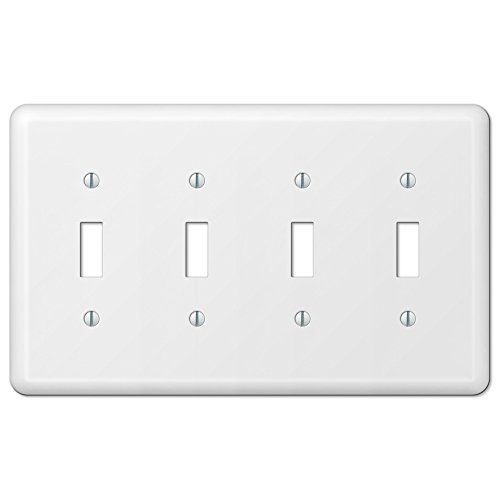 quad white switch plate - 5