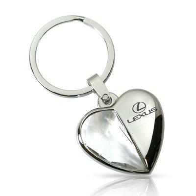 Lexus Clear Crystal Heart Key Chain ()