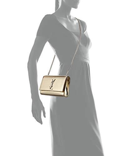 680bedcb45dc Saint Laurent Kate Monogram YSL Small Crackled Metallic Leather Crossbody  Bag - Silvertone Hardware  Handbags  Amazon.com