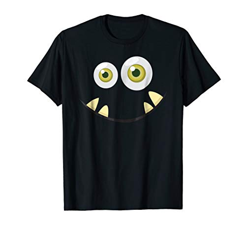 Monster Face Halloween T Shirt Costume Idea Scary Cute ()