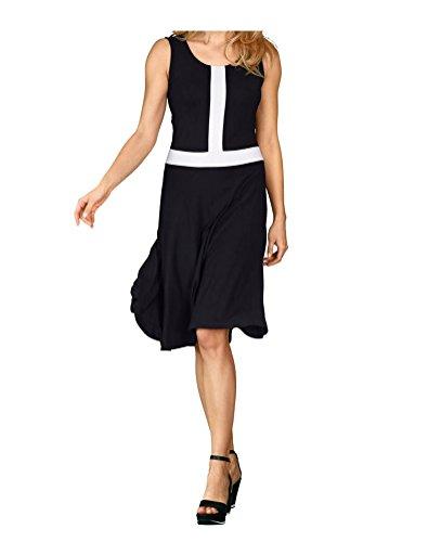 Jersey Gr Weiss Marken 46 0816835686 Einsatz Schwarz AV Kleid mit kontrastem 42 Gr H51BBwWq