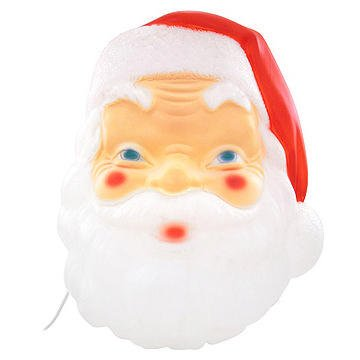 (18 Inch Santa Face Lighted Plastic)