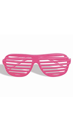 Kanye West Costume (Forum Novelties Unisex Slot Glasses, Neon Pink)