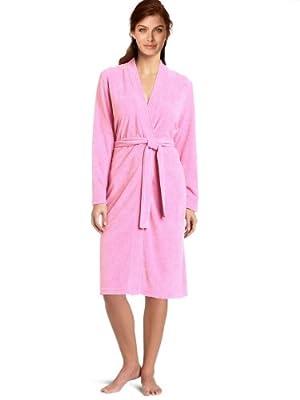 Towel Terry Kimono Robe Women's Men's Cotton Kimono Bathrobe Plush Spa Cover Up