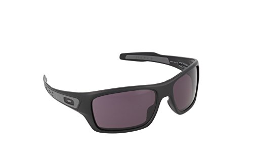 Oakley Men's OO9263 Turbine Rectangular Sunglasses, Matte Black/Warm Grey, 65 mm ()